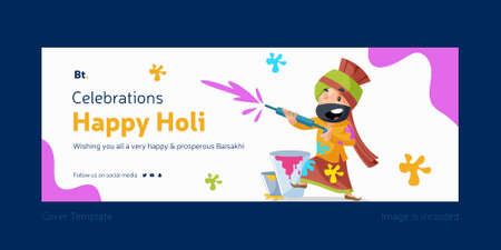 Celebrations Of Happy Holi Cover Design