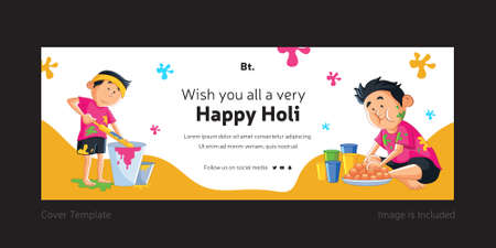 Wishing You All A Very Happy Holi Cover Page.