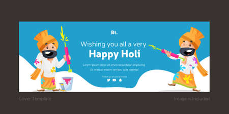 Wishing You All A Very Happy Holi Cover Design.