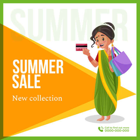 Summer sale new collection banner design template. Vector graphic illustration. 矢量图像