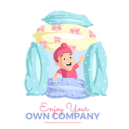 Enjoy your own company banner design template. Vector graphic illustration. 矢量图像