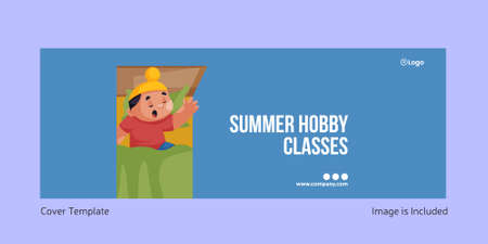 Cover page of summer hobby classes page design. Vector graphic illustration.