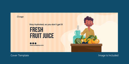 Fresh fruit juice cover page design. Vector graphic illustration. 矢量图像