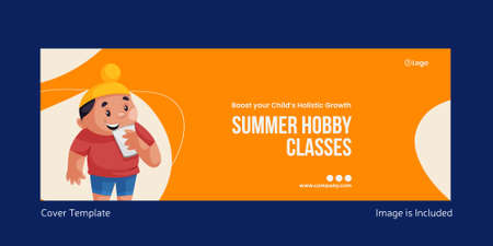 Summer hobby classes cover page design. Vector graphic illustration. 矢量图像