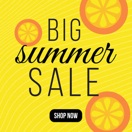 Banner design of big summer sale template. 矢量图像