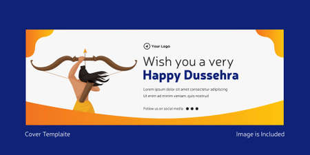 Cover page of Indian festival wish you a very happy Dussehra template.