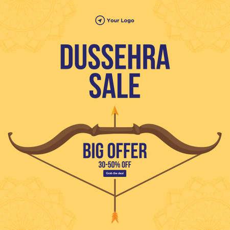 Banner design of Dussehra sale big offer Indian festival template.