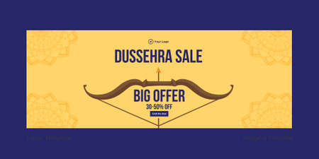 Cover page of Dussehra sale big offer template.