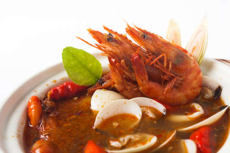 sour grass: tom yum Thailand spicy seafood soup
