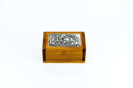 cardbox: elephant gift box, isolated, thai gift Stock Photo
