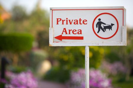 mp: Photo of Private Area sign (12,8 MP Full Frame)