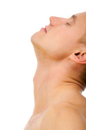 joven desnudo: Aislado imagen de la sensualidad retrato desnudo joven.
