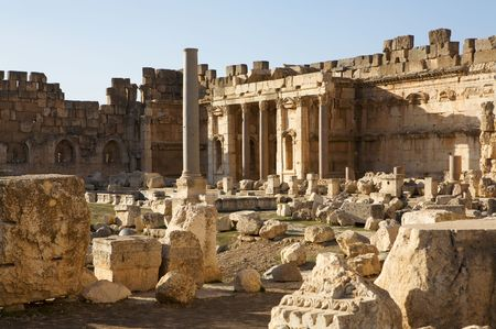 Temple of Bacchus at Baalbek, Lebanon.