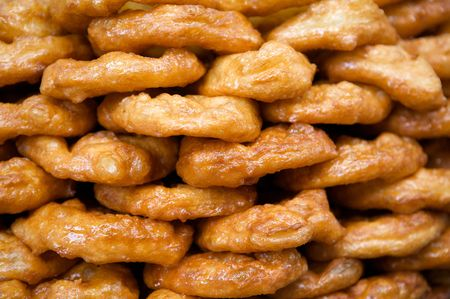 A photo of sweet doughnuts. Banco de Imagens