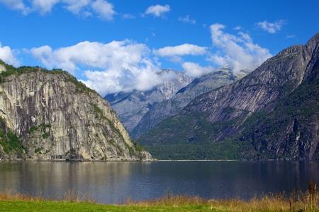 paysage: Beautiful landscape Norway fjord. Stock Photo