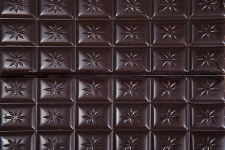 Dark chocolate background on full frame photo