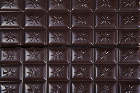 Dark chocolate background on full frame Stock Photo - 12917403