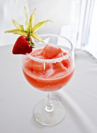A delicious strawberry margharita, refreshing and tasty  Stock Photo - 15594342