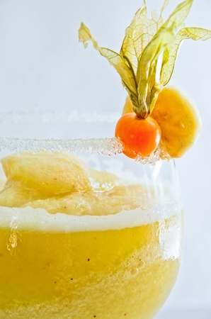 A delicious banana cocktail, refreshing and tasty Stock Photo - 15614647