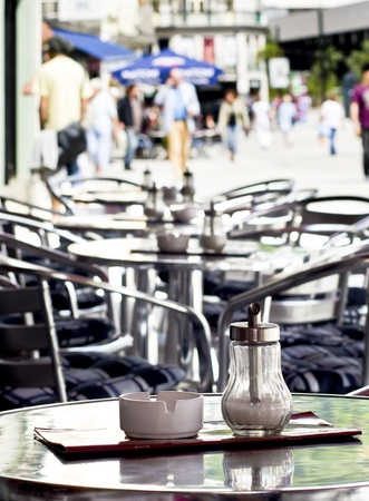A table at a coffee shop Stock Photo - 15629639