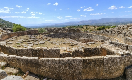 The historical site of Mycenae, in Greece. Banco de Imagens