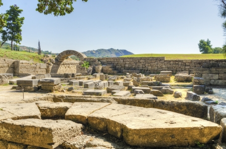 Ruins of the ancient site of Olympia.