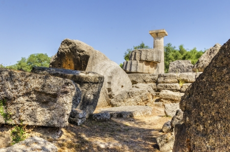 athenians: Ruins of the ancient site of Olympia, in Greece, where the games originate from