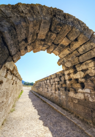 athenians: Ruins of the ancient site of Olympia, where the games originate from  Stock Photo