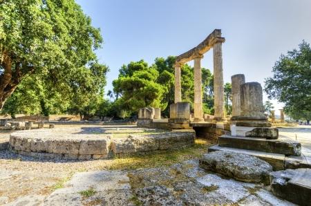 遺跡オリンピア オリンピア アルティ スローで具体的には Philippeion の古代のサイト。