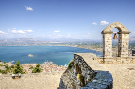 nauplio: A view of the city of Nafplio in Greece