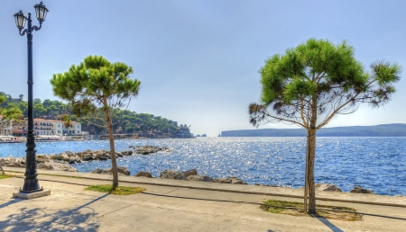 A view of the port in Pylos, a Greek city in Peloponnese  South Greece