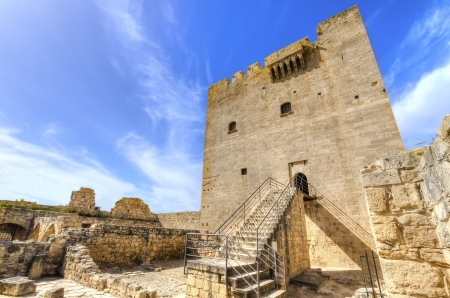 A view of the entrance of the medieval castle of Kolossi  photo