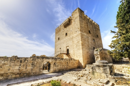 The medieval castle of Kolossi. It is situated in the south of Cyprus, in Limassol. photo