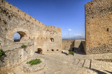 A view of Palamidi castle in Nafplio, the first capital of Greece. photo