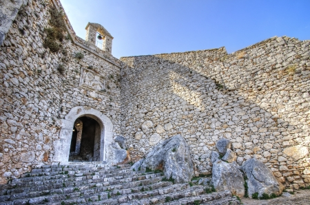 nauplio: A view of Palamidi castle in Nafplio, the first capital of Greece. Stock Photo