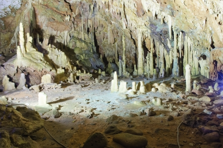 The magnificent and majestic caves of Diros in Greece Stock Photo - 20051675