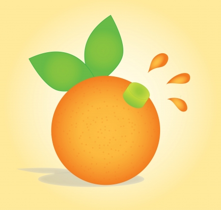 An orage with a juice cap, representing freshly squeezed orange juice Stock Vector - 20538878