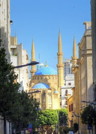 mohammad: A view of the Mohammad Al-Amin Mosque and the clock tower situated in Downtown Beirut, in Lebanon  Beautiful structures in the renovated city centre