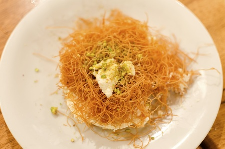A delicious lebanese dessert made with vermicelli and ashta cream as well as syrop  Typical dessert served after food in Lebanon