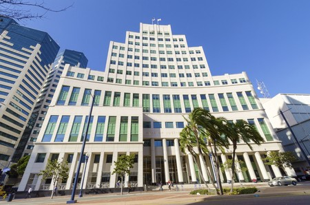 The Hall of Justice courthouse, on Broadway, in Downtown San Diego, southern California, United States of America   Éditoriale