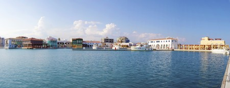The beautiful Marina in Limassol city in Cyprus Stock Photo