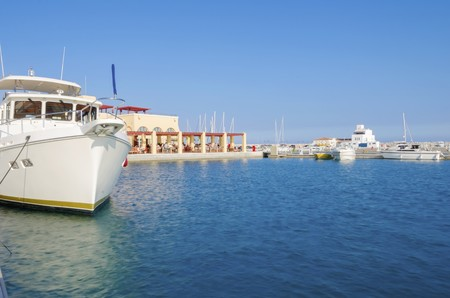 The beautiful Marina in Limassol city in Cyprus photo