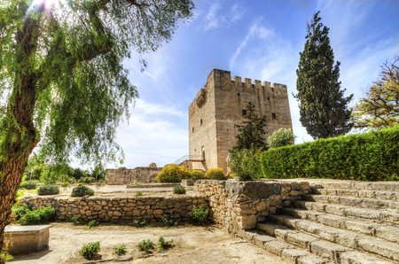 The medieval castle of Kolossi. It is situated in the south of Cyprus, in Limassol. The castle dates back to the crusades and it constitutes a landmark of the area.