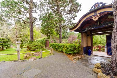 The Japanese Tea Garden in Golden Gate Park in San Francisco, California, United States of America.