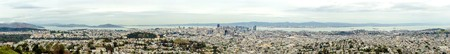 Aerial panoramic view of downtown San Francisco city skyline, California, United States of America photo