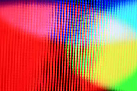 Macro of an lcd tv CMYKRGB pattern pixels visible