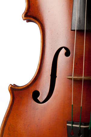 violas: Close up on a violin isolated XXL
