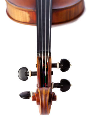 Close up on a violin isolated XXL photo