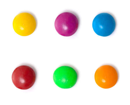 smarties: isolated candies Stock Photo