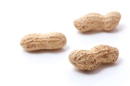 opened peanuts  Stock Photo